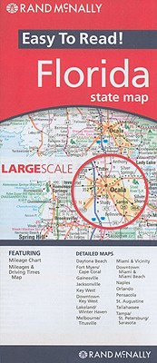 Rand McNally Easy to Read Florida State Map By Rand McNally and Company