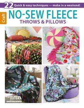 No-Sew Fleece Throws & Pillows By Leisure Arts, Inc.